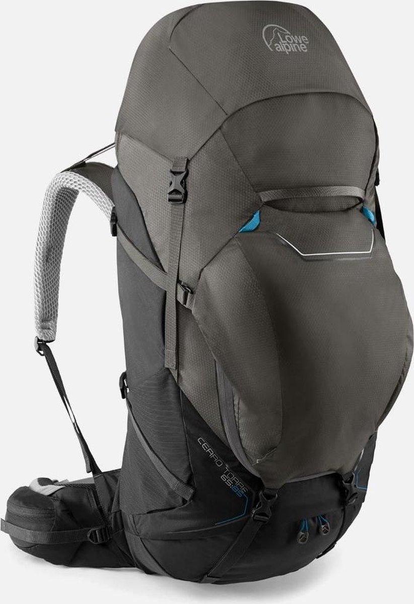 Lowe Alpine Cerro Torre 65:85l backpack heren large - Black Greyhound