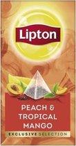 Lipton - Exclusive selection thee Perzik mango - 25 Pyramide zakjes