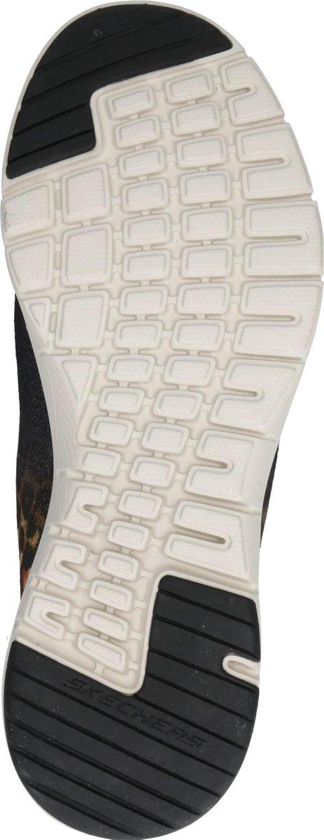 Skechers Flex Appeal 3.0 Leopard Path Dames Sneakers - Zwart - Maat 41 zusrs