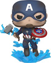 Funko - Marvel #573: Captain America with with broken Shield and Mjolnir (Avengers: Endgame) Pop!