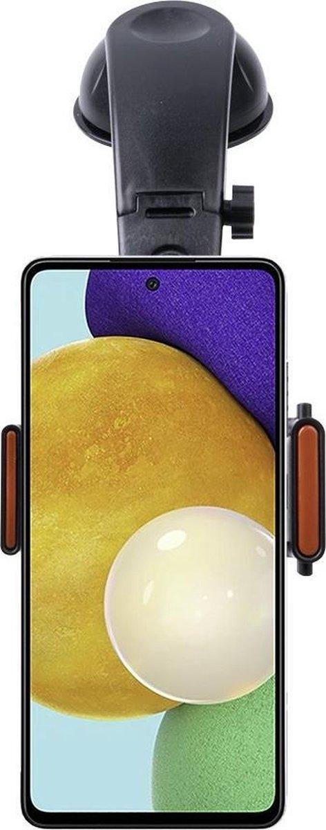Shop4 – Samsung Galaxy A52 Autohouder 3 in 1 Dashboard en Ventilatiehouder Zwart