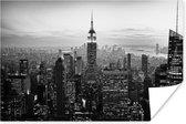 New York City zwart-wit  Poster 180x120 cm - Foto print op Poster (wanddecoratie) XXL / Groot formaat!