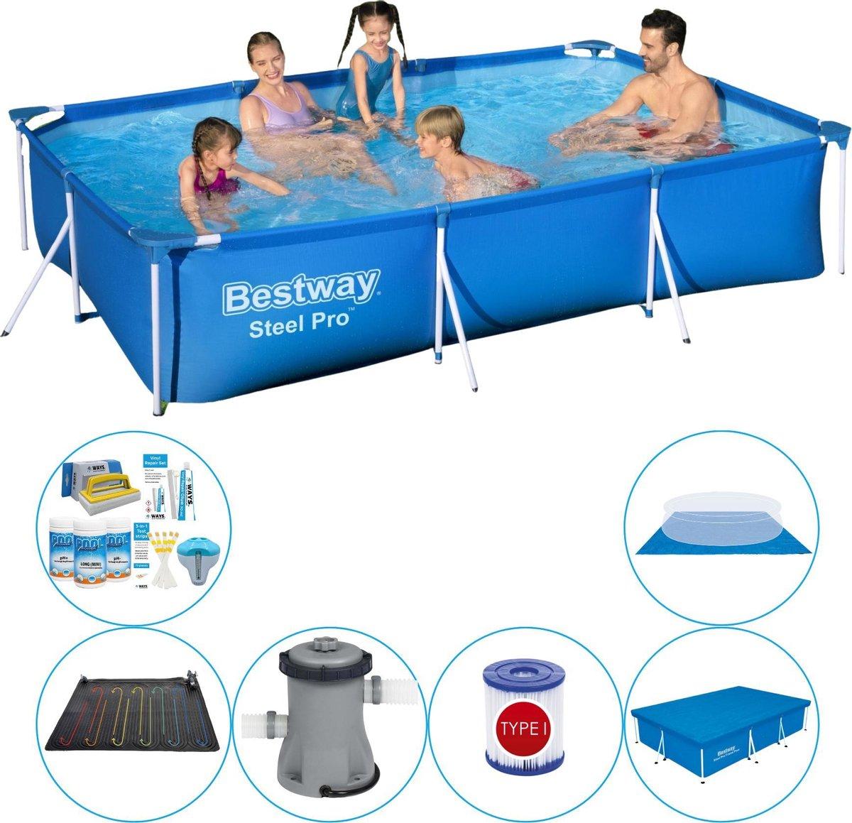 Bestway zwembad - Frame Pool - Super Deal - 300 x 200 x 66 cm - blauw
