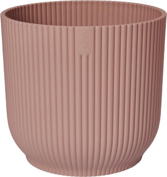 Elho Vibes Fold Rond 18 - Bloempot voor Binnen - Ø 18.345 x H 16.8 cm - Roze