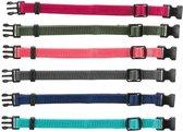 Trixie Puppy Halsband 22-35cm set fuchsia-legergroen-roze-donkergrijs-donkerblauw-turquoise 6st