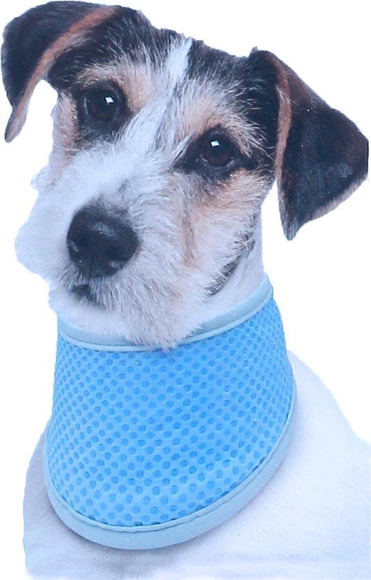 Hondenbandana - verkoelde halsband - Cool bandana - PVA - Kleur: blauw - Maat M: 38-52 cm
