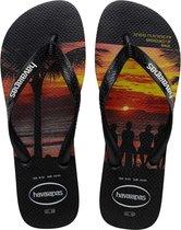 Havaianas Hype Heren Slippers - Black - Maat 41/42