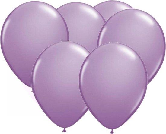 Lavendel paarse party ballonnen 50x stuks 30 cm - Feestartikelen/versieringen