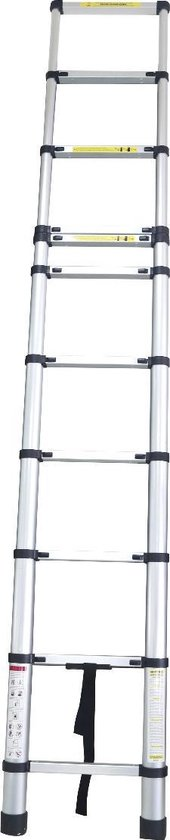 Aqua Laser Telescopische ladder - Uitschuifbare ladder - 11 treden - 3,2 meter
