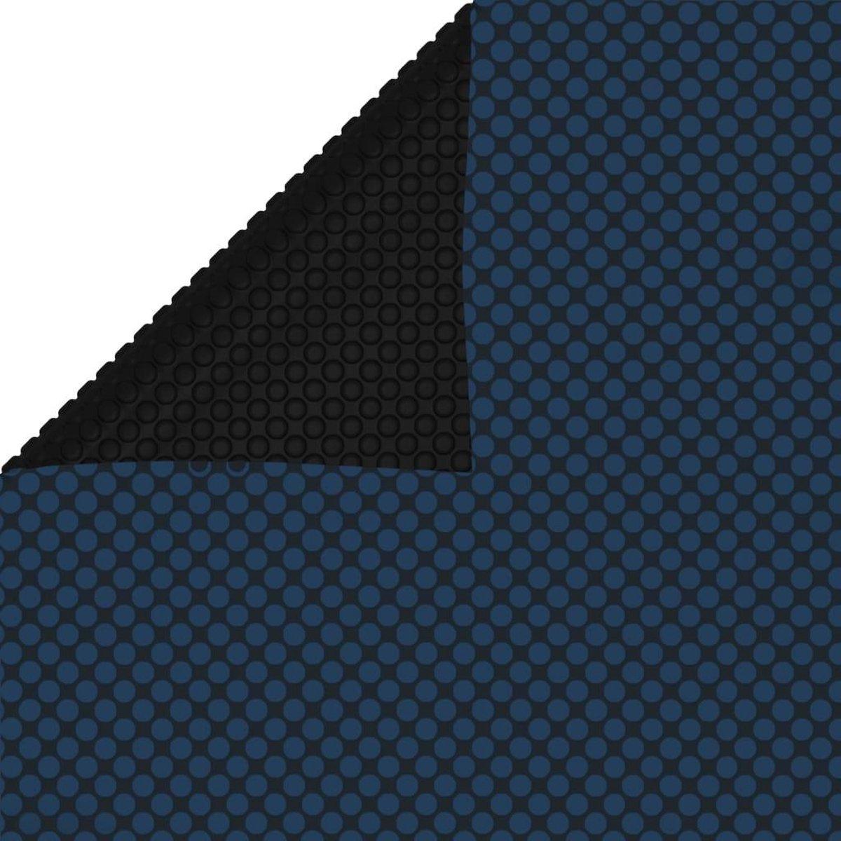 vidaXL Zwembadfolie solar drijvend 600x400 cm PE zwart en blauw