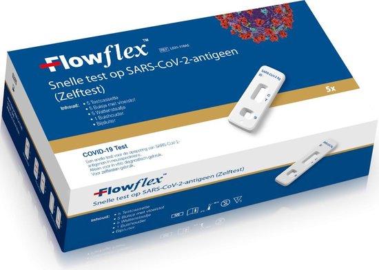 Afbeelding van 5 stuks FLOWFLEX ZELFTEST SINGLE PACKED corona ( covid 19 ) corona zelftest / sneltest 5 STUKS - Sars-CoV-2 Antigen Rapid Test 5 Stuks