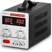 Stamos Laboratorium voeding - 0-30 V. 0-3 A DC. 90 W - Zwart