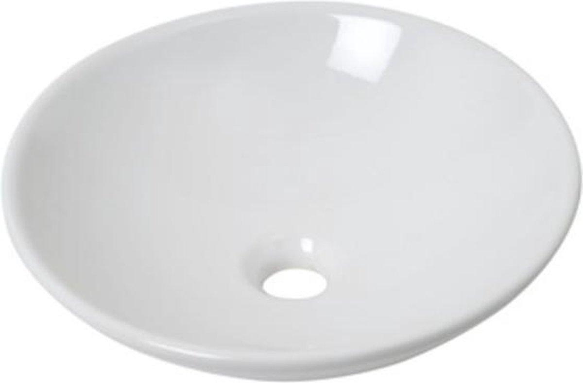 Waskom Bowl rond Plieger 40x10CM Wit