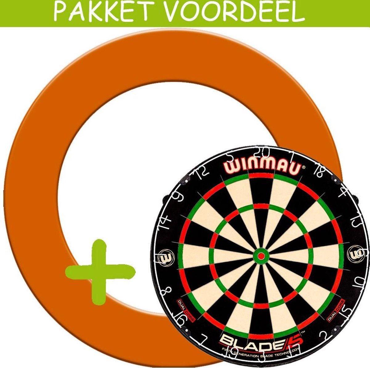 Dartbord Surround VoordeelPakket - Dual Core - Rubberen Surround-- (Oranje)