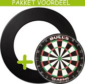 Dartbord Surround VoordeelPakket - Bulls Classic -  Rubberen Surround-- (Zwart)