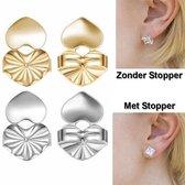 Oorbellen ondersteuning - oorbel lifters - tegen kantelen van de oorbellen - zilver kleur