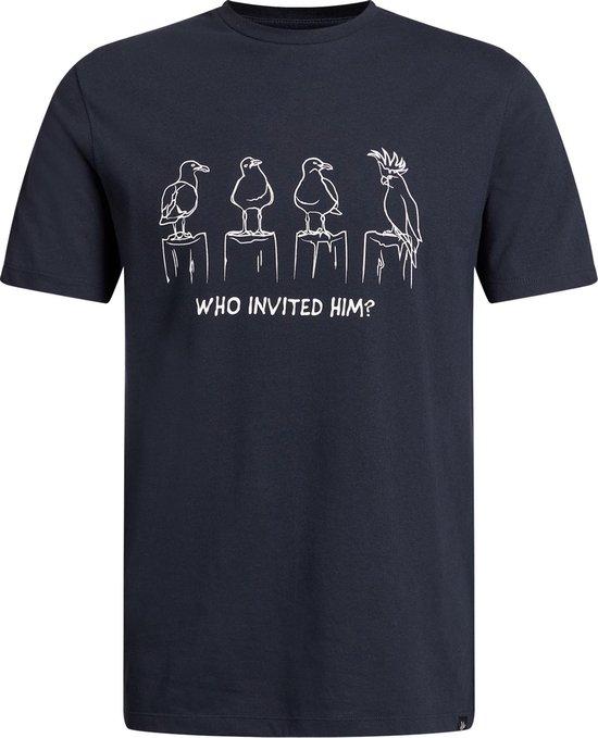 WE Fashion Heren T-shirt met opdruk