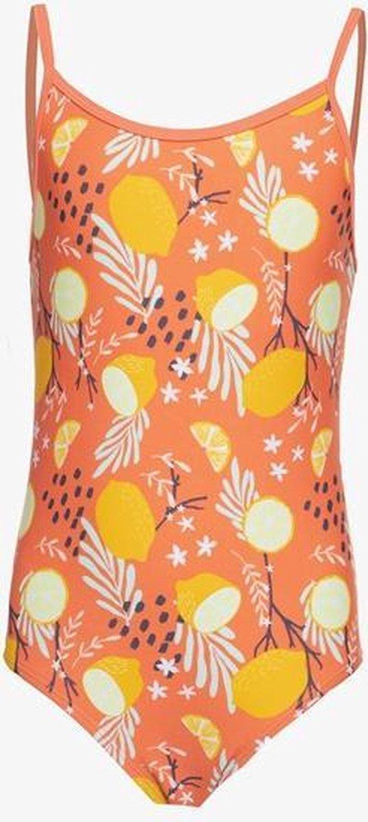 Osaga meisjes badpak met print - Oranje - Maat 140