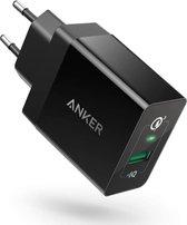 Anker PowerPort+1 - 18W Quick Charge 3.0 oplader - zwart