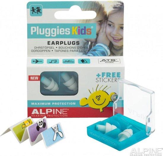Alpine Pluggies Kids - Gehoorbescherming voor kinderen - Oordoppen - Wit - SNR 25 dB - 1 paar