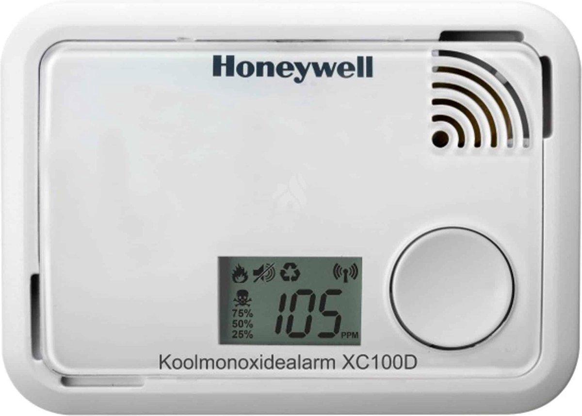 Honeywell XC-100D Koolmonoxidemelder - LCD Display - Meet zeer lage koolmonoxidewaarden