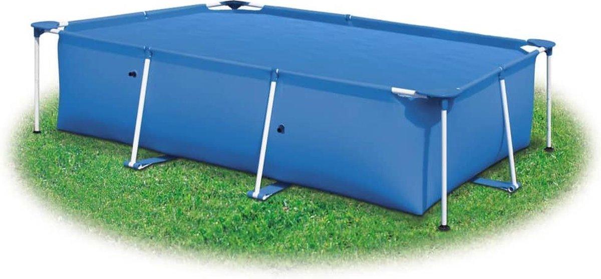 vidaXL Zwembadhoes rechthoekig 600x400 cm PE blauw