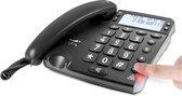 DORO Magna 4000 zwarte analoge bureautelefoon met nummerweergave en grote geluidsversterking. Geschikt voor SLECHTHORENDEN