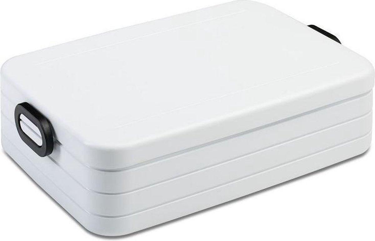 Mepal – Lunchbox Take a Break large – Geschikt voor 8 boterhammen – wit – Lunchbox voor volwassenen