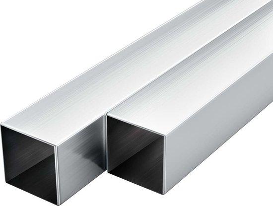 vidaXL Kokerbuizen vierkant 1m 40x40x2mm aluminium 6 st  VDXL_143173