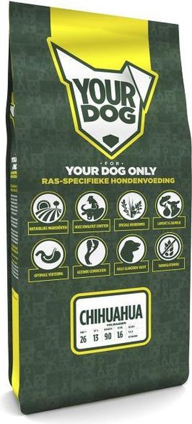 Yourdog Chihuahua Volwassen - Hondenvoer - 12 kg