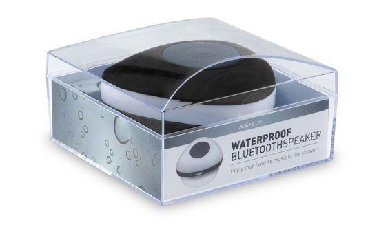 Avanca Bluetooth Waterdichte Wireless Speaker - Douche Speaker - Waterproof - Zwart