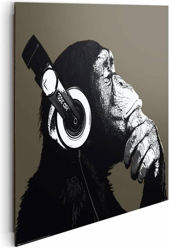 Reinders Schilderij The Chimp - stereo - Deco Panel - 50 x 40 cm - no. 22213