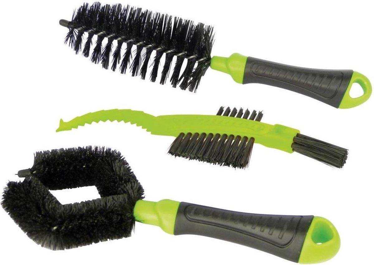 Dresco Fietsborstelset - 3-delig - Zwart/Groen