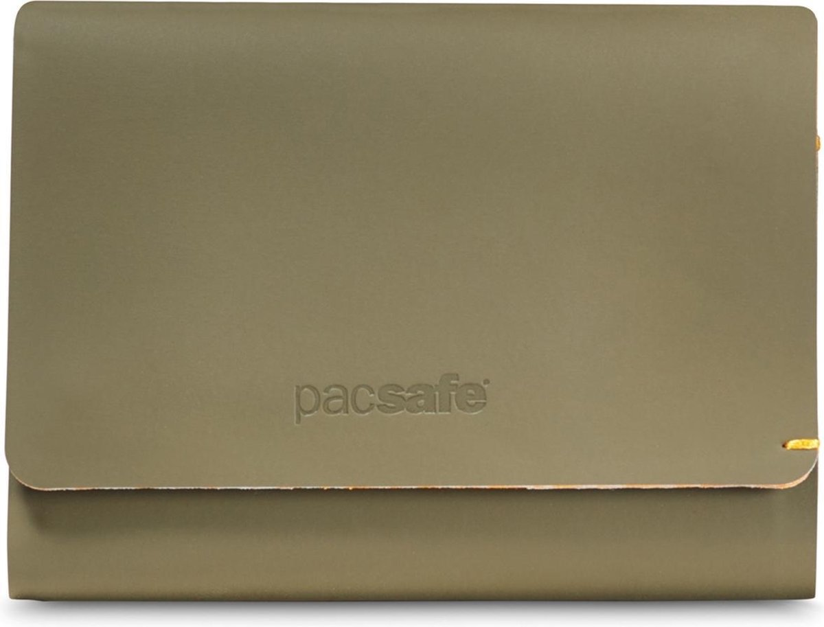 PACSAFE RFIDsafe TEC Trifold Wallet - Portemonnee - Groen (Utility)