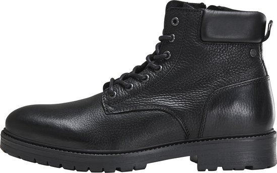 Jack & Jones - Hounslow Leather - Bottines gekleed - Heren - Maat 45 - Zwart;Zwarte - Anthracite