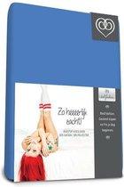 Badstof stretch hoeslaken  Royal Bleu - 90 x 200 cm - Royal Bleu