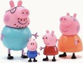 Peppa Pig Familie - Complete Gezin - 4 stuks - Speelfiguren - Speelsets - Peppa Pig - Speelgoed - George Pig