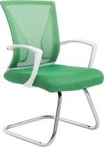 Clp Bonnie - Bezoekersstoel - Stof - onderstel chroom, bekleding groen