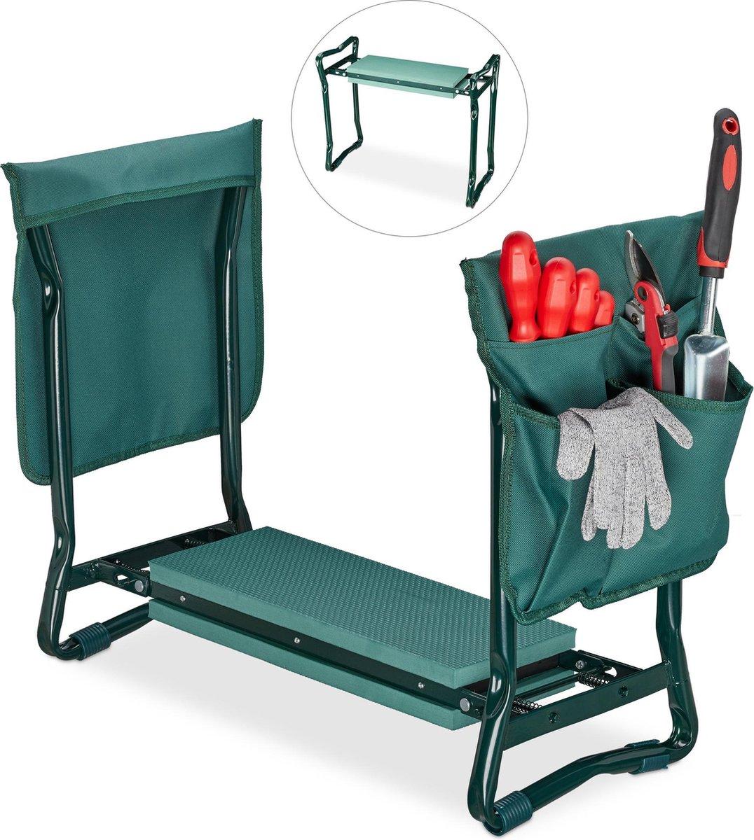 relaxdays kniebank - tuinkruk - werkbankje - kniesteun tuinieren - kniekussen - tot 150 kg