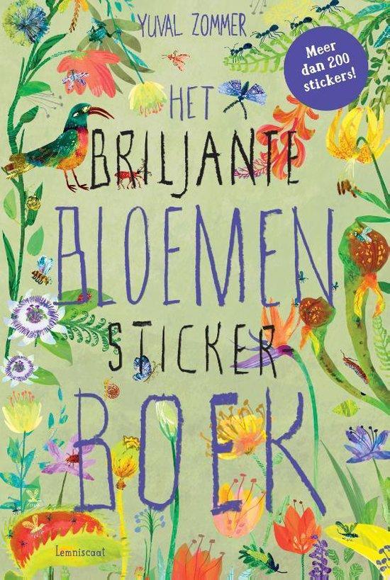 Boek cover Het Briljante Bloemen Boek Stickerboek van Yuval Zommer (Paperback)