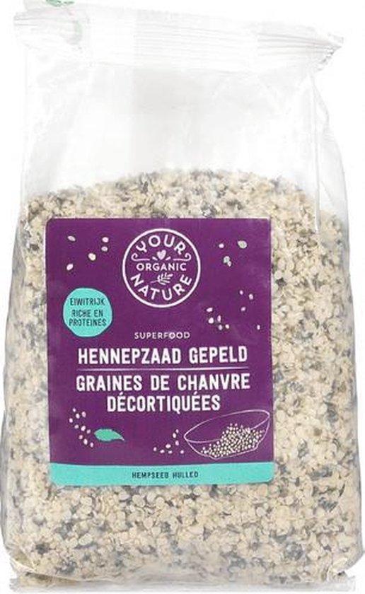 Hennepzaad gepeld Your Organic Nature - Zak 250 gram - Biologisch