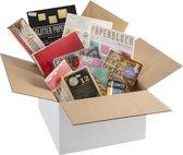 Creatieve hobby/knutselbox van Craft Sensations | Tekenen voor volwassenen | Stickers | Glitter papier | Gekleurd karton | Kleurpotloden | Houten letters & cijfers