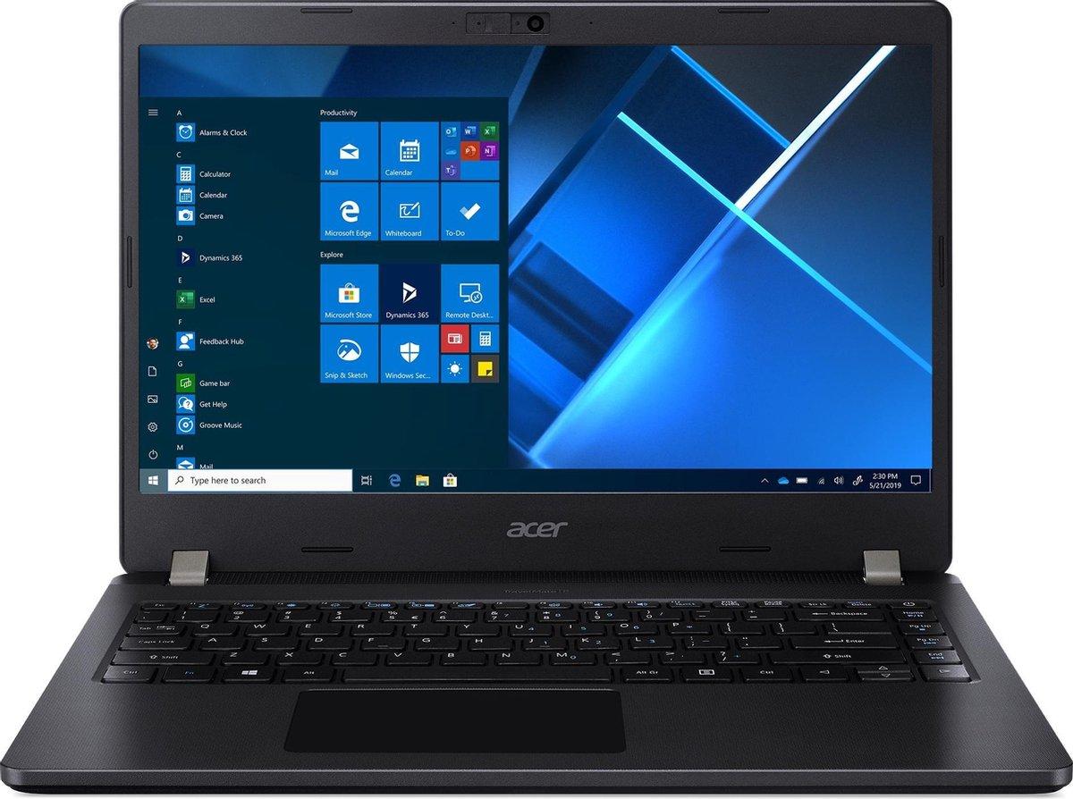 Acer TravelMate P2 TMP214-52-79VZ Notebook 35,6 cm (14) 1920 x 1080 Pixels Intel® 10de generatie Core™ i7 16 GB DDR4-SDRAM 512 GB SSD Wi-Fi 6 (802.11ax) Windows 10 Pro Zwart