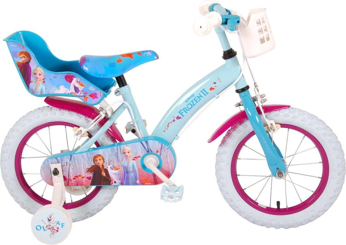 Volare Disney Frozen 2 Kinderfiets - Meisjes - 14 inch - Blauw/Paars