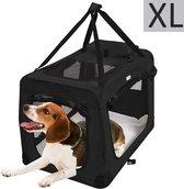 MC Star Hondenbench Reisbench Auto bench voor hond katten - Pet Carriers Dog Cat Puppy Travel Transport Bag - Zwart, XL: 82x58x58cm