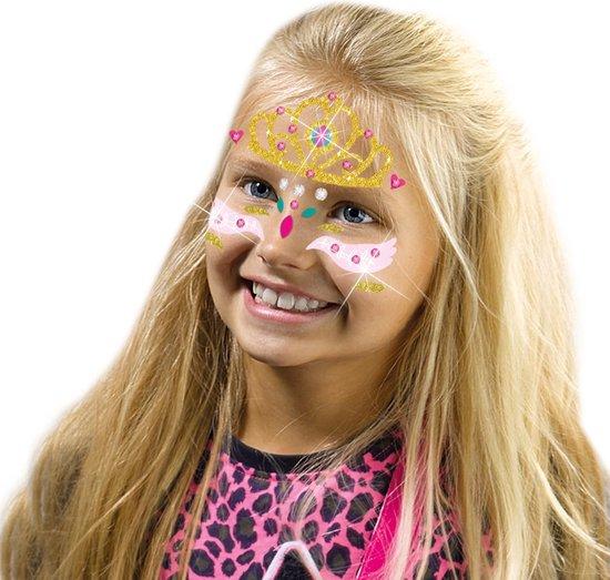 Fashion glitter gezicht tattoos – Prinses