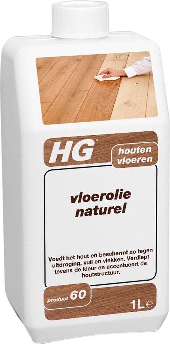 HG hout vloerolie (product 60) - 1L - voedt en beschermt