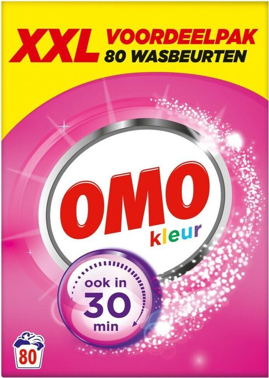 Omo Kleur Waspoeder - 80 wasbeurten - 4.73 kg - Wasmiddel