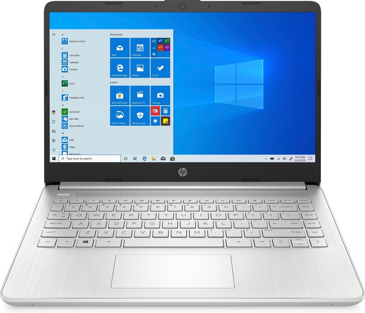 "HP 14s-fq0037nd DDR4-SDRAM Notebook 35,6 cm (14"") 1920 x 1080 Pixels AMD Ryzen 3 4 GB 128 GB SSD Wi-Fi 5 (802.11ac) Windows 10 Home S Zilver"