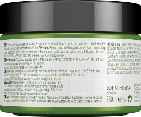 4x John Frieda Detox & Repair Haarmasker 250 ml